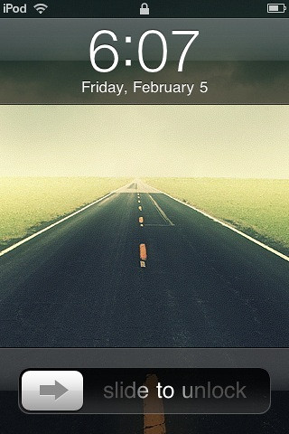 My iPod Touch's Lock Screen. kinda reflect my current situation