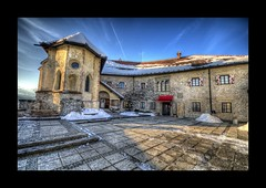 Courtyard (Uros P.hotography) Tags: road park trip travel sky cloud lake alps castle tourism beautiful clouds amazing nice julian nikon perfect tour view superb path unique awesome sigma grand courtyard tourist slovenia journey stunning excellent bled slovenija lovely incredible 1020 hdr breathtaking alpe d300 photomatix julijske slod300
