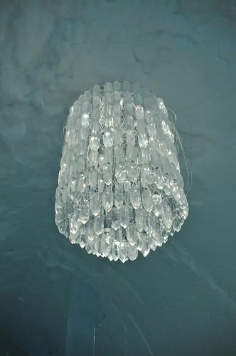 ice chandelier Jukkasjärvi Ice hotel