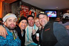 Erik Hughes, Colby West, Joss Christensen and Jossi Wells came chilling at the Matterhorn