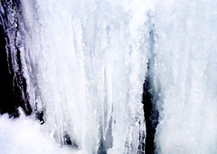 ice fall (dmixo6) Tags: winter light snow abstract texture ice lines dark chaos science surface complexity february muskoka 2010 dugg lakemuskoka dmixo6
