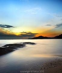 Choosing the right path (mr_fairuz) Tags: blue sunset red sky golden rocks long exposure quiet slow dr hour serenity shutter teluk 2010 batik perak seri fairuz datuk darul nizar ridwan zilzal zambri