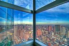 200 West Street 42nd Floor (Shot 2) (pennuja) Tags: nyc sky window skyline nikon d200 goldman hdr throughwindow photomatix 200weststreet