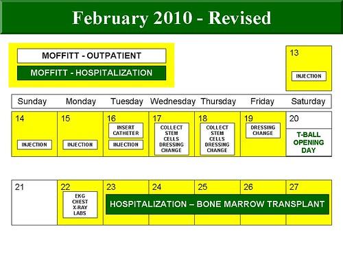 Bugg February calendar