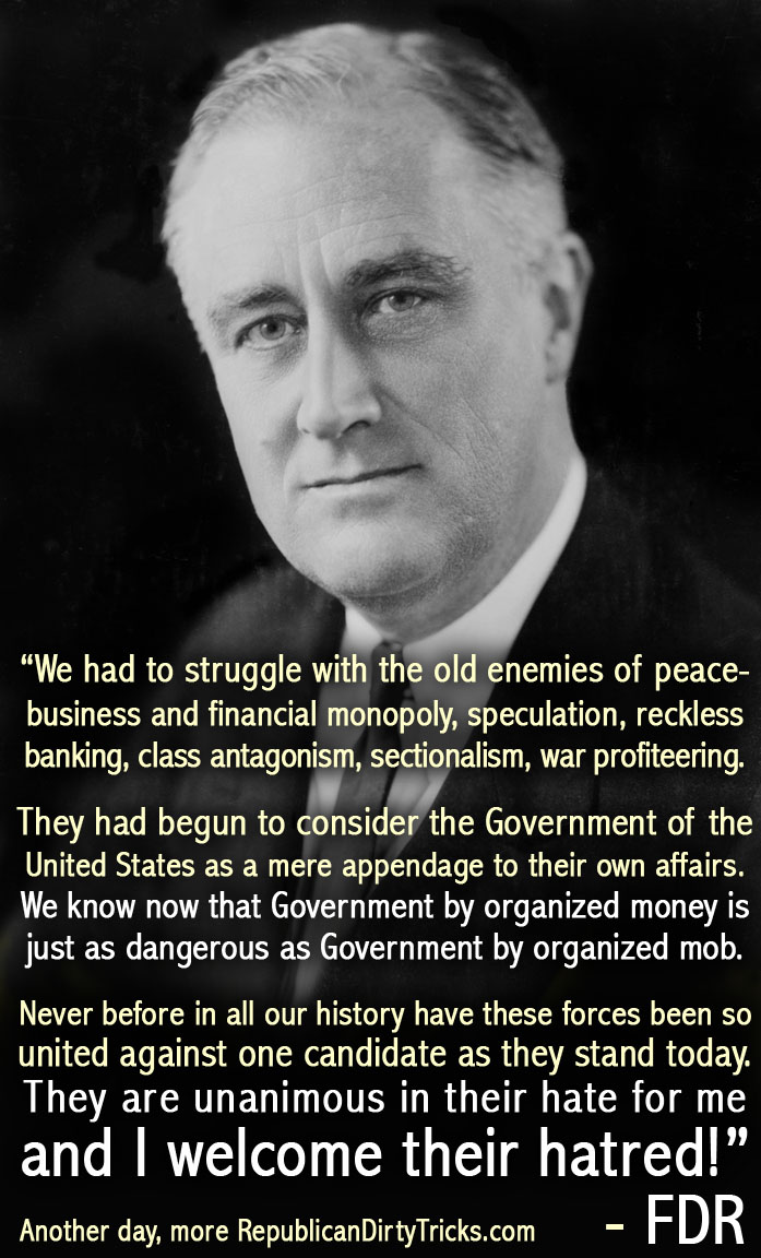 FDR Speech I welcome their hatred Image