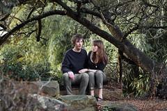 Day 112 - Jungle Romance (The Kit and the Cub) Tags: boy love rock tom emily couple valentines matching botanicalgardens englandgirl