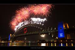 NYE Fireworks at Sydney Harbour (heart_pilot) Tags: new eve bridge light reflection water fireworks harbour nye sydney australia years