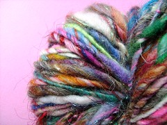 grey days (4) (rosie.ok) Tags: wool knitting handmade crochet craft yarn spinning sparkly artisan woollen handspun spun