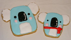 Koala Cookies (christylacy) Tags: cute cookies blueandred valentinsday koalabears christylacy itsnummynum