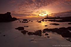 Pigeon Point Light House - Pescadero, California, USA (Rich Capture) Tags: california sunset lighthouse seascape water clouds canon landscape eos 1 highway rocks cliffs richard gitzo pigeonpoint pescadero b1 arcaswiss 2531 ef1635mmf28lii 5dmark2 richardmatyskiewicz matyskiewicz