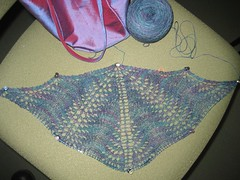 shoalwater shawl, WIP 1