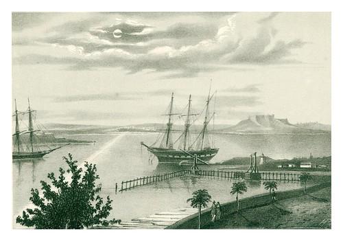 012-Vista del fondo de la bahia de la Habana-Paseo de Roncali-Álbum pintoresco de la Isla de Cuba- 1853