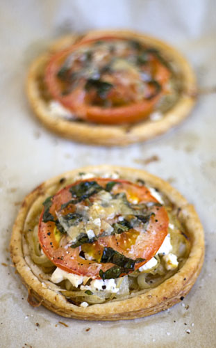 Tomato and Goat Cheese Tarts - Handle the Heat