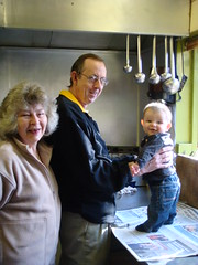 Owen and his doting grandparents