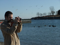 Multitasking at it's finest! (MSVG) Tags: lake toronto ontario canada view front promenade lakeview mississauga lakefront