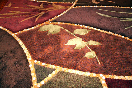 A rug is transformed