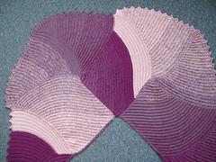 017 Pinky Purple Curlicue Shawl
