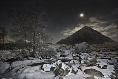 Still not quite... (CU-Photography) Tags: snow tree night stars scotland highlands glen craig usher mor coe buachaille etive feckingcold