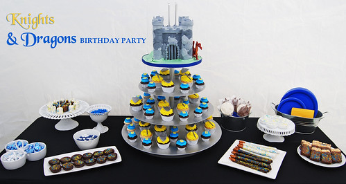 Knight Birthday Party Dessert Buffet party title