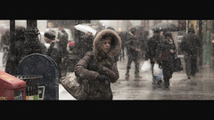 faux fur (Dj Poe) Tags: street camera new york snow cinema ny canon eos photo dj mark candid explore ii 5d snowing cinematic 169 frontpage poe f28 2010 70200mm