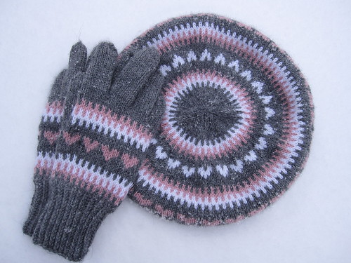 beret and mittens