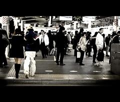 二 (sɐanosaurus [ショーンオザウルス]) Tags: life street two people station japan photography japanese 50mm nikon couple candid platform jr 日本 東京 yokohama 横浜 愛 日本人 横浜駅 二 横浜市