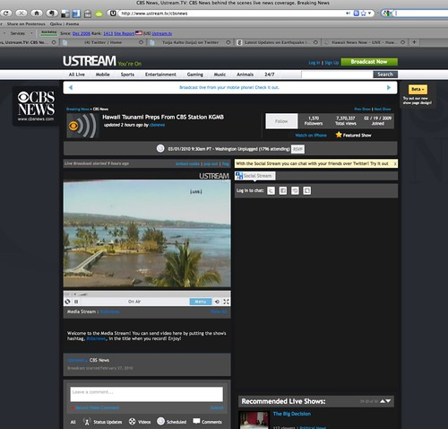 Hawaii tsunami watch screenshots