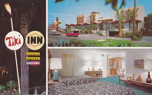 Tiki Inn Motel Palo Alto CA postcard 1960s
