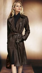 lt01 (lupofire) Tags: woman leather coat business trench trenchcoat blond ledermantel