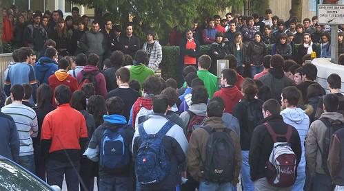 Joseba Iglesias gogoratzeko elkarretaratzea Goi Eskola Politeknikoan (MU)