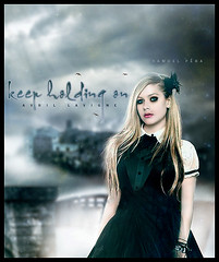 # Avril Lavigne - Keep Holding On (samuelpera) Tags: music rock photoshop studio holding princess pop keep emotional samuel lavigne pra avil photofilre
