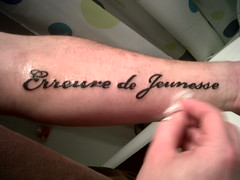 Erreure de jeunesse (Ronchhon) Tags: art tattoo pierre jeunesse youthful tatoo tatouage erreur ronchhon capiemont