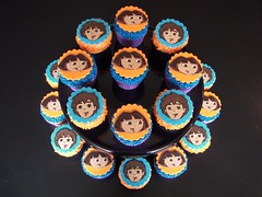 Dora and Diego Cupcakes (death by cupcake) Tags: cupcake fondant buttercream birthday baking sprinkles jimmies dora deigo nickjr party deathbycupcake deadcupcake jennifermcfadden