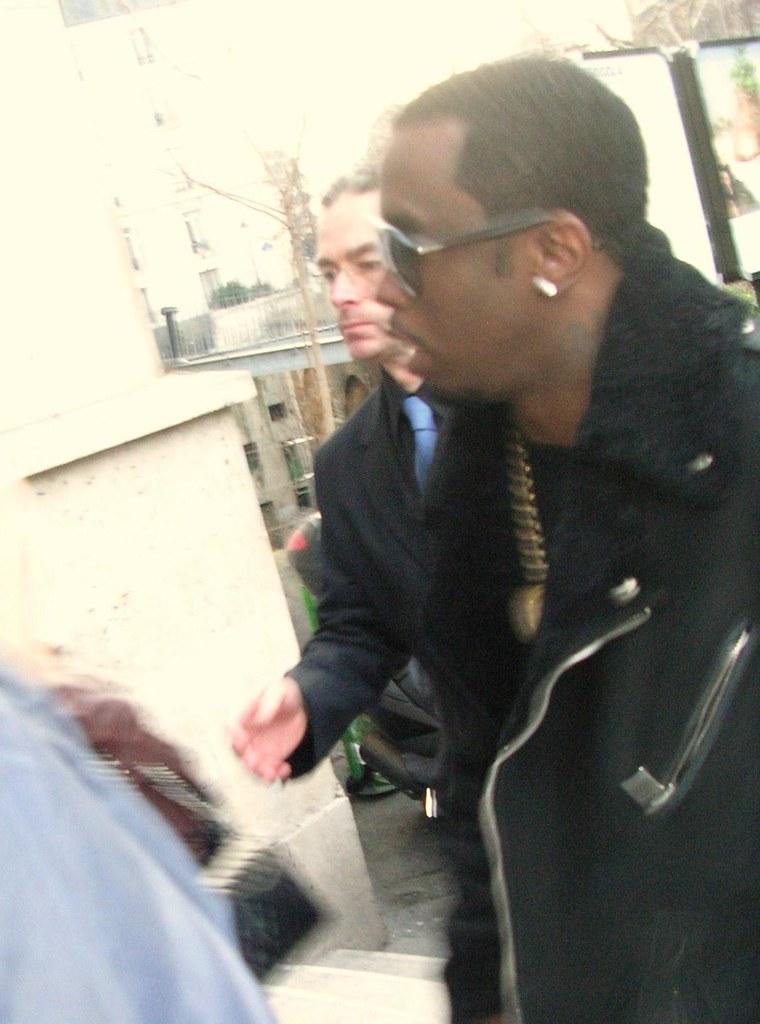 Paris FW: Outside Gareth Pugh Fall/10 show - P.Diddy