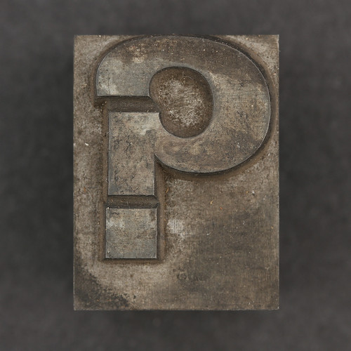 Caslon metal type question mark ?