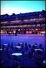 having a seat in San Marco (Ariadna Bach) Tags: italy 35mm nikon italia chairs piazza 18 venecia venezia sanmarco d60 procuratievecchie procuratienuove