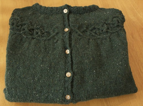 Finished Tangled Yoke Cardigan
