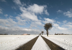 Winter hasn't said goodbye yet... (Danil) Tags: holland netherlands landscape daniel sneeuw nederland groningen landschap middleofnowhere d300 schitterend reiderland nieuwestatenzijl grensgebied drieborg maartroertzijnstaart lastwinteraction krimpgebied