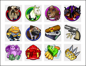 free Dogfather slot game symbols