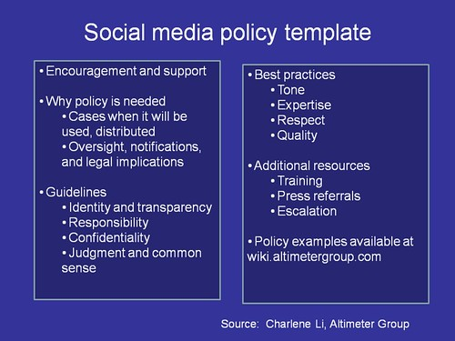Beth'S Blog: Nonprofits And Social Media: Policy