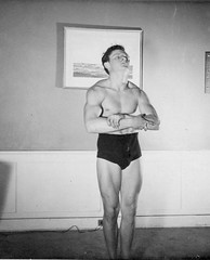 1940s Muscle Bodybuilder Masculine Muscular Man Speedo Briefs Cut Shirtless Swim Trunks Underwear Vintage Photo (Christian Montone) Tags: summer blackandwhite man men swimming photo masculine muscle briefs 1940s leisure recreation speedo bodybuilder swimsuit vintagephotos swimtrunks vintagephoto
