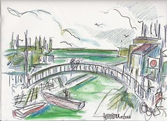 YOKOHAMA BRIDGES 1960S (roberthuffstutter) Tags: art beach japan midwest expressionism impressionism americana venicebeach yokohama beatniks watercolors sketches japaneseart penandink worksinprogress japanesedrawings sketchesandpaintings japaneseillustrations roberthuffstutter japanesepictures huffstuttersart robertlhuffstutter sketchesofjapan robertsgallery originalsavailable assortedmixedmedium bobhuffstutter japanesesketches huffstuttersdrawings japaneseportfolio assortedjapanesedrawings yokohamacollection stagesofprogression huffstuttersyokohama artphotosjapan