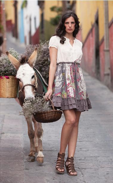 ruche spring dress