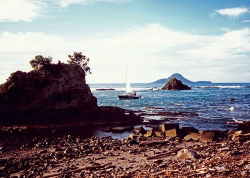 Whakatane New Zealand Bay Of Plenty narrow harbour 1991