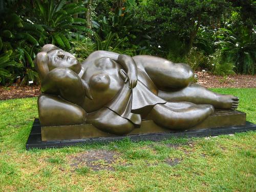 Reclining Woman, Fernando Botero Sculptures Exhibit, Fairchild Tropical Botanic Garden, Coral Gables, Miami-Dade, FL
