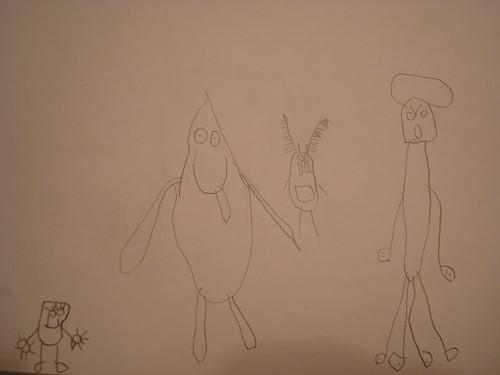 SpongeBob, Patrick, Plankton & Squidward
