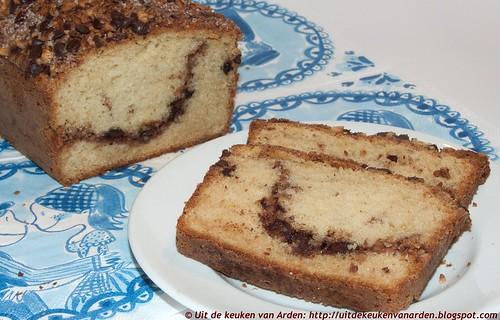 Cake met hazelnoten en chocolade