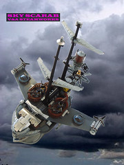 Sky Scarab HERO 5 (V&A Steamworks) Tags: sky ship lego air zeppelin va airship steamworks scarab steampunk moc brickarms