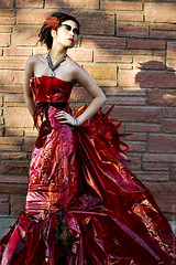 (Arianna Biasini) Tags: red portrait sunlight female contrast dress badass naturallight portraiture couture reddress highfashion edgy caseykaine ariannabiasini temnafialka natashalazarovic