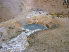 One of thehot springs at Lone Star.  It seems to release quite a bit of gas through the water and is constantly bubbling and overflowing.